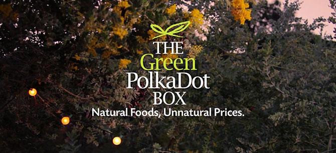 Green Polka Dot Box